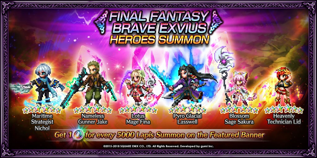 Final Fantasy Exvius On Twitter From 76 100 713 059 Pdt Dont