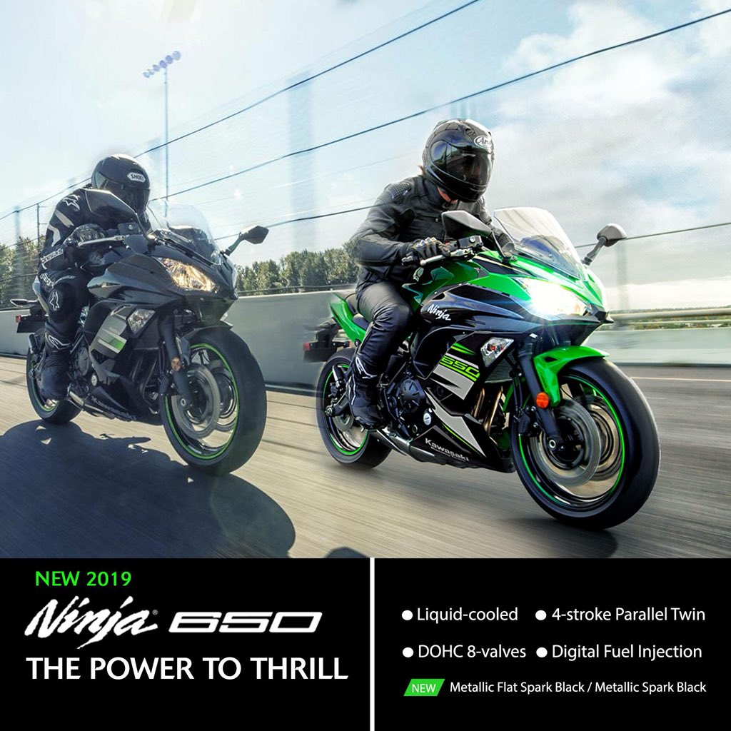 Indiakawasaki On Twitter Introducing New 2019 Ninja 650 Abs Metallic Flat Spark Black And Krt Edition Kawasaki Indiakawasaki Ninja650