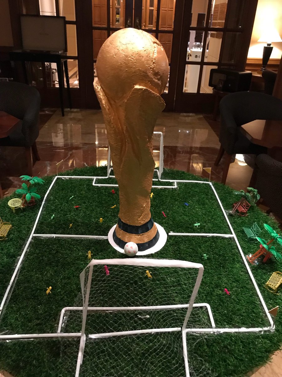 Our fantastic #ClientServices team are working on #RusadaProjects globally, but still have time to watch the World Cup wherever they are. England fan, Paul Coyne spotted this in Chennai, India. #ItsComingHome