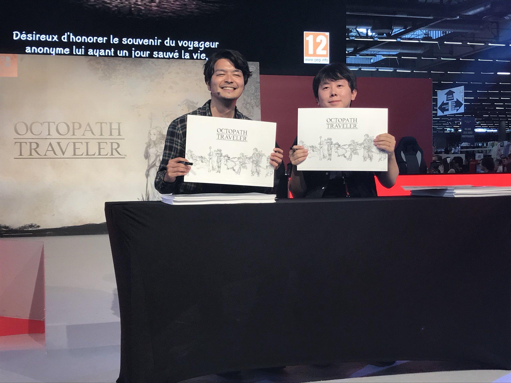 Masashi Takahashi et Yasunori Nishiki en dédicace à Japan Expo
