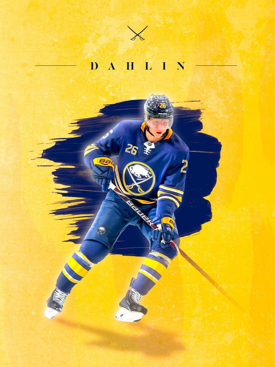 06a4249b0 Wanted to try out a couple of different things. Been awhile since I just  created a graphic for fun. #Sabres #Dahlin pic.twitter.com/vaFz8kqug3