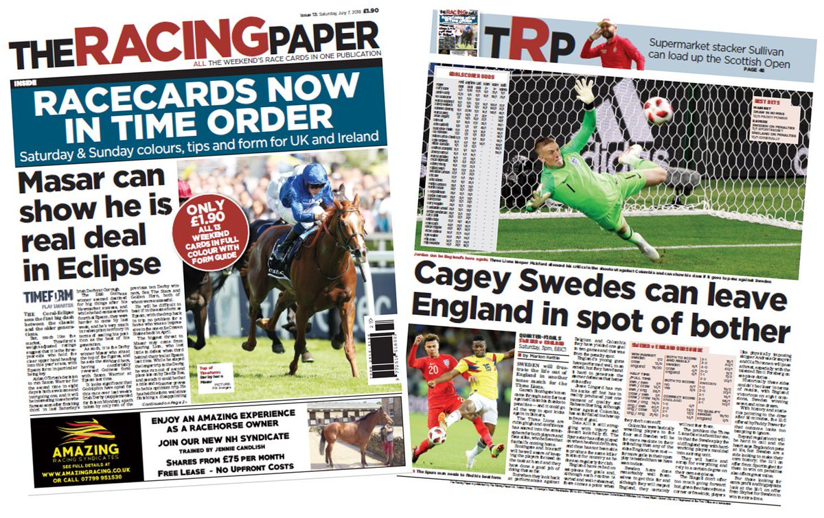 The Racing Paper on Twitter: