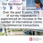 Have you seen an increase in the number of international clients in your commercial transactions? https://t.co/0JBoTm2U1Q  #CRE @NAR_Research @narglobal