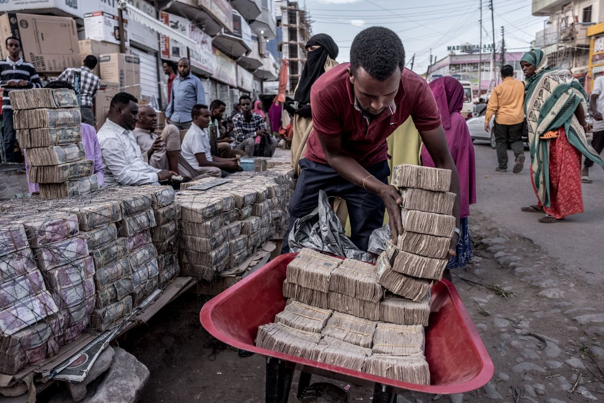 "Tommy Trenchard on Twitter: ""Latest pics for the Wall Street Journal out  today, with @MatinaStevis's report on the shift from cash to mobile-money  in #Somaliland, where a few dollar bills will get"