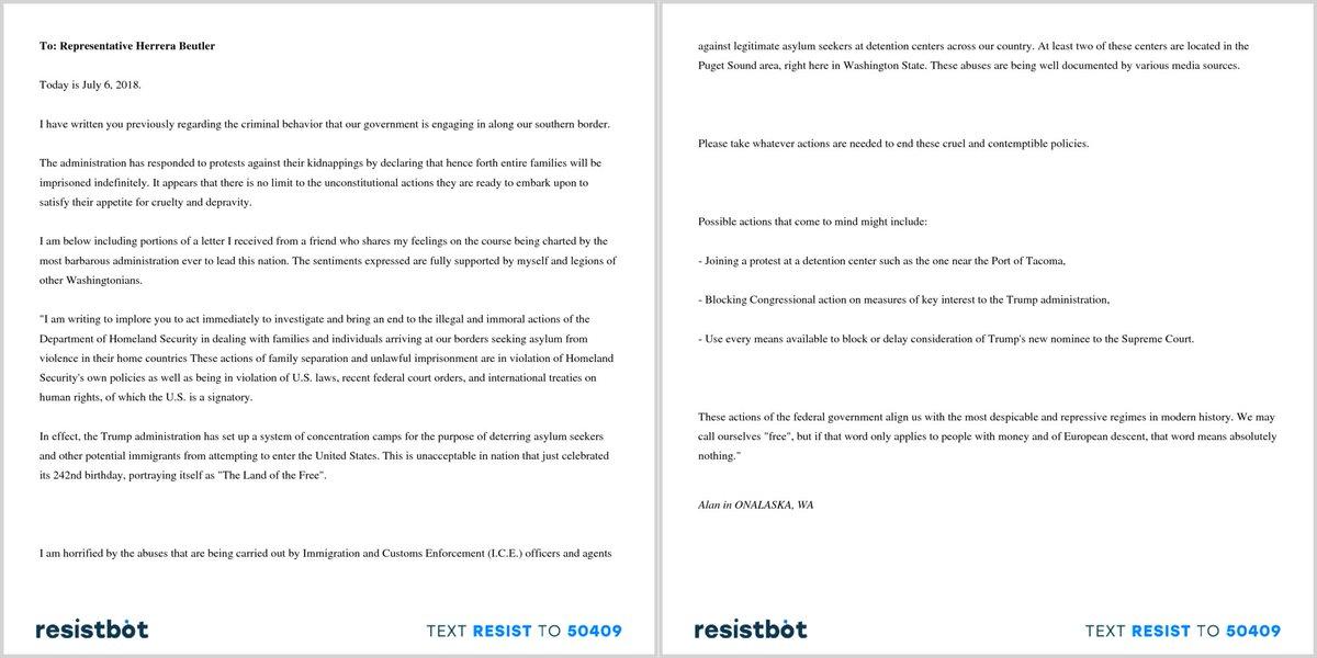 resistbot open letters on twitter heres an open letter from alan in onalaska wa to herrerabeutler familiesbelongtogether