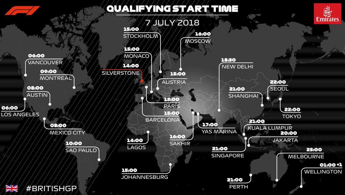 GP de Gran Bretaña 2018: Clasificación en directo - F1 al día