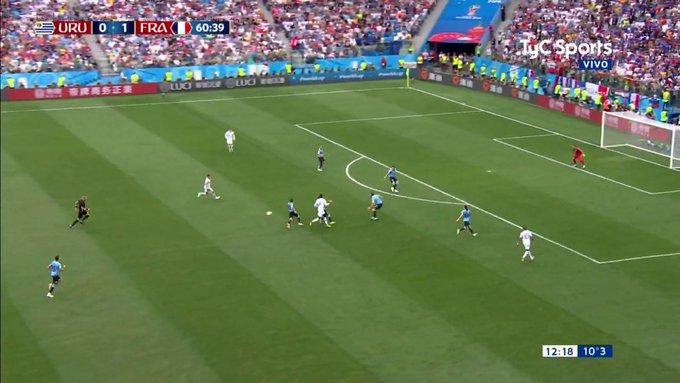 Francia le ganó a Uruguay 2-0 y se mete en la semifinal del Mundial Rusia 2018