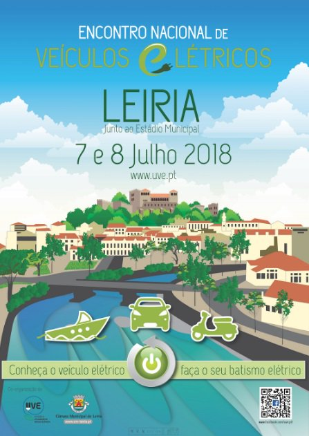 On July 7 and 8 will be held in Leiria the National Meeting of Electric Vehicles - ENVE 2018. Stay in our hotels and participate in ENVE! #enve #ElectricVehicles https://t.co/mJs07Dw8Sh