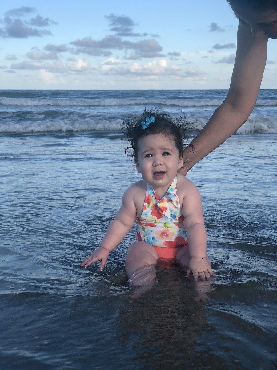 She loves this place #SC #beach #littlewren #beachbaby #iphonex