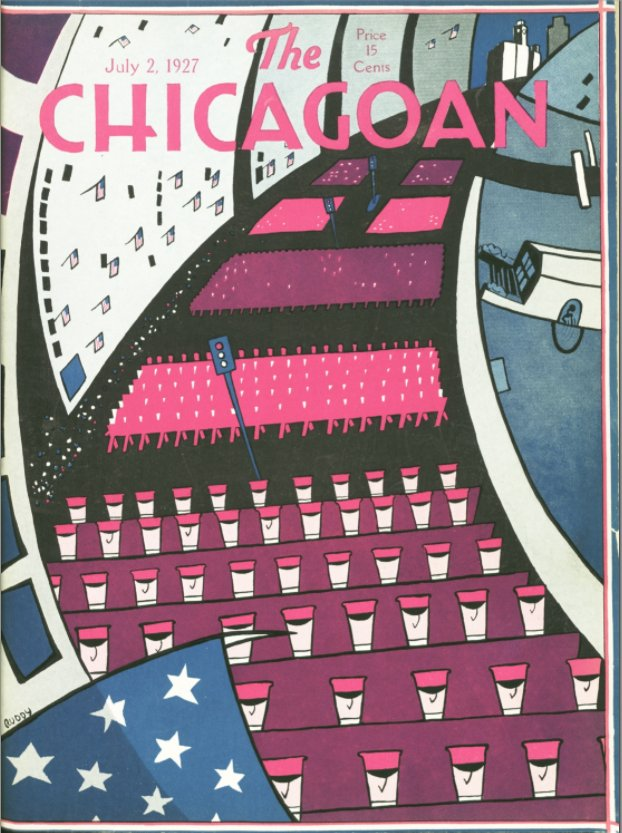 Here at Art Deco Chicago we hope you all had good independence days and enjoyed the holiday week. Todays #Chicagoan features the July 2, 1927 cover #patriotic #archive #magazine #vintage #artdecochicago Copyright The Quigley Publishing Company, a Division of QP Media, Inc