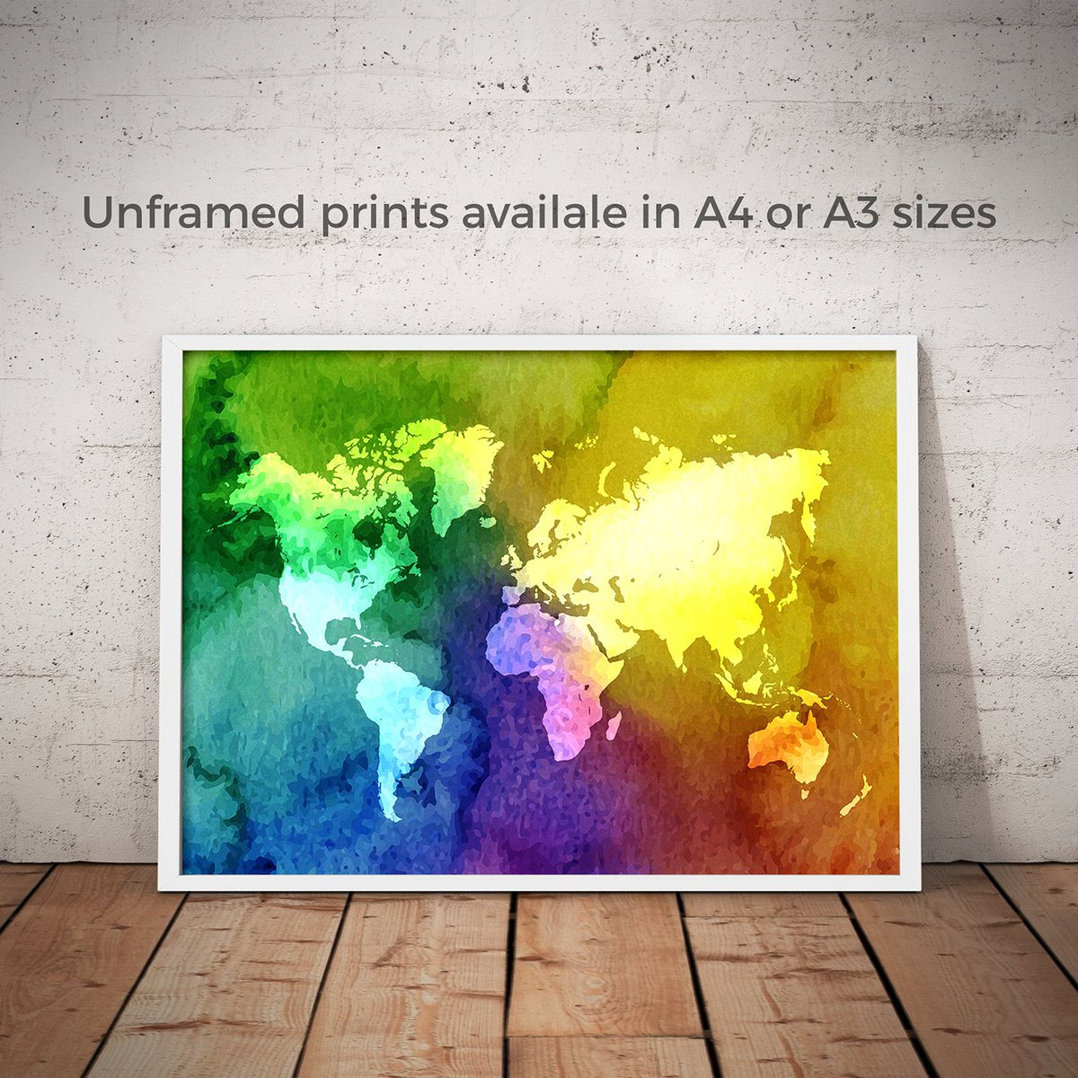 Images and video about worldmapposter tag on twitter twita splashseven designs splashseven watercolour world map world map poster world map wall art world map print travel map colourful vibrant colours gumiabroncs Gallery
