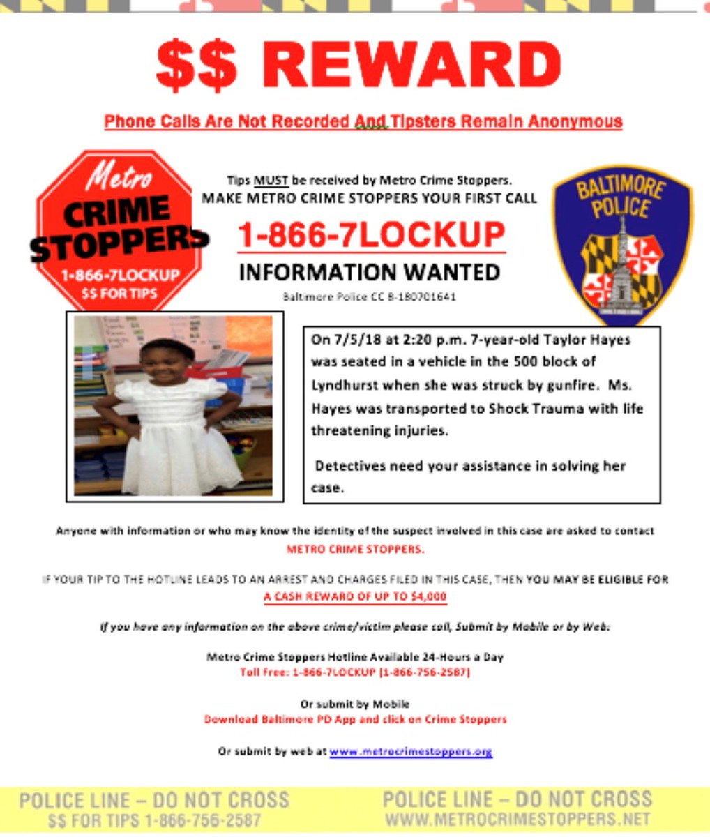 shelley orman s tweet this is the reward flyer baltimorepolice