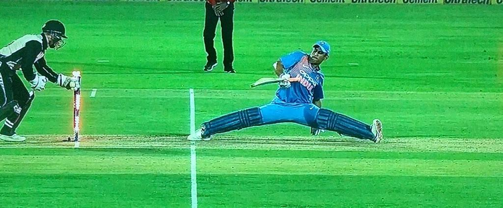 #HappyBirthdayMSDhoni . May your life be longer than this stretch and may you find happiness in everything, faster than your stumpings. Om Finishaya Namaha !