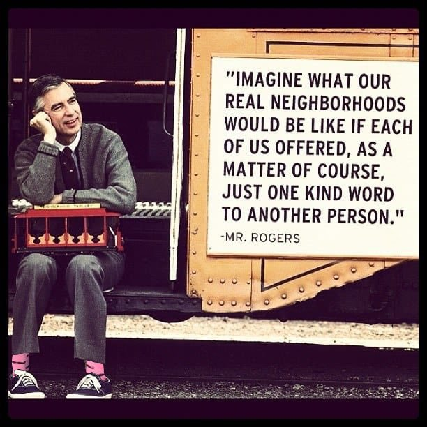 One kind word. #wordstoliveby #Empathy #FridayMotivation #MrRogers #MrRogersMovieM#pinksockso#hcldrvie   @KarenATXMH(h/t )