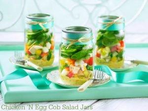 AD - Chicken 'N Egg Cobb Salad Jars recipe  https://t.co/g0QBD2skA1 https://t.co/vMiW3ZF5y8