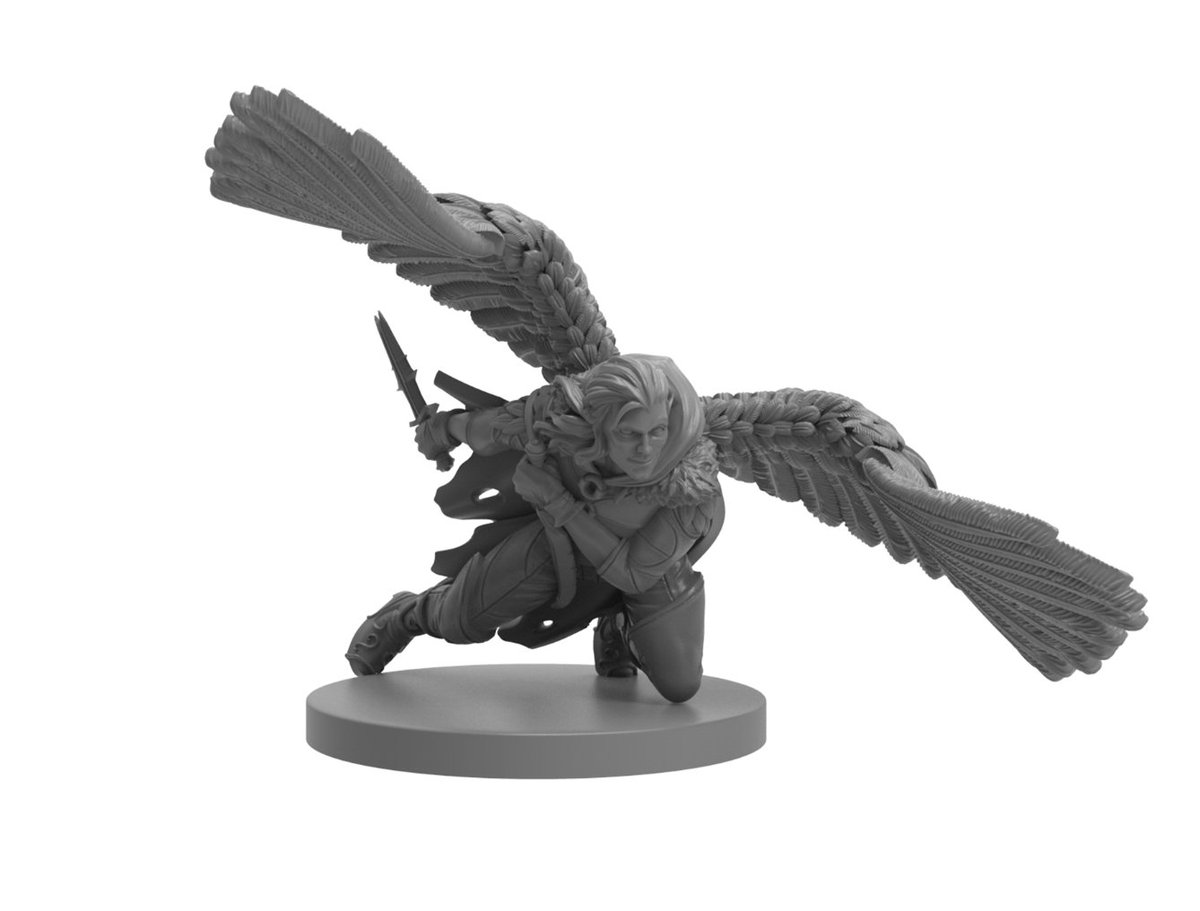 We did it! Our Kickstarter has ended, but @SteamforgedLtd has opened late pledges (they accept PayPal!): bit.ly/lateminis And NEW today: Our limited edition winged Vax mini, available for pre-order now & pick up at the Steamforged booth at #GenCon. bit.ly/WingedVax
