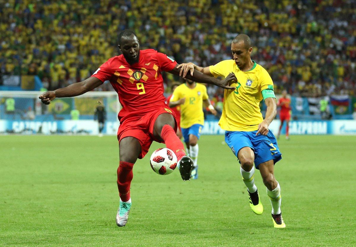 .@RomeluLukaku9 and @Fellaini bowl over #BRA and help #BEL advance to a #WorldCup semi-final.