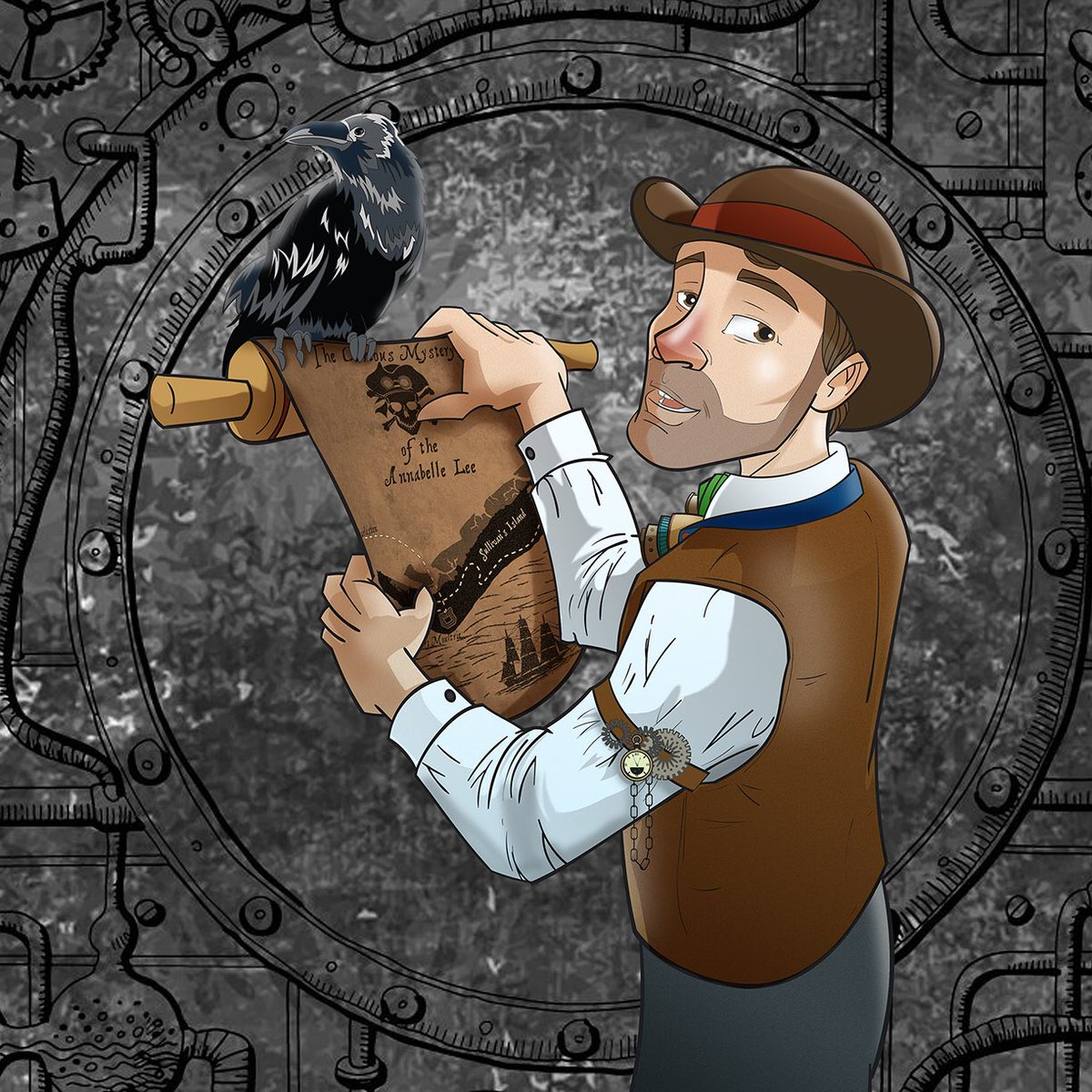 #Artwork Awesome of the Day: #Steampunk ⚙️ Commissioned #Illustration for @CarizeHunter & @Shazie44 by @Doodlebags #SamaArt