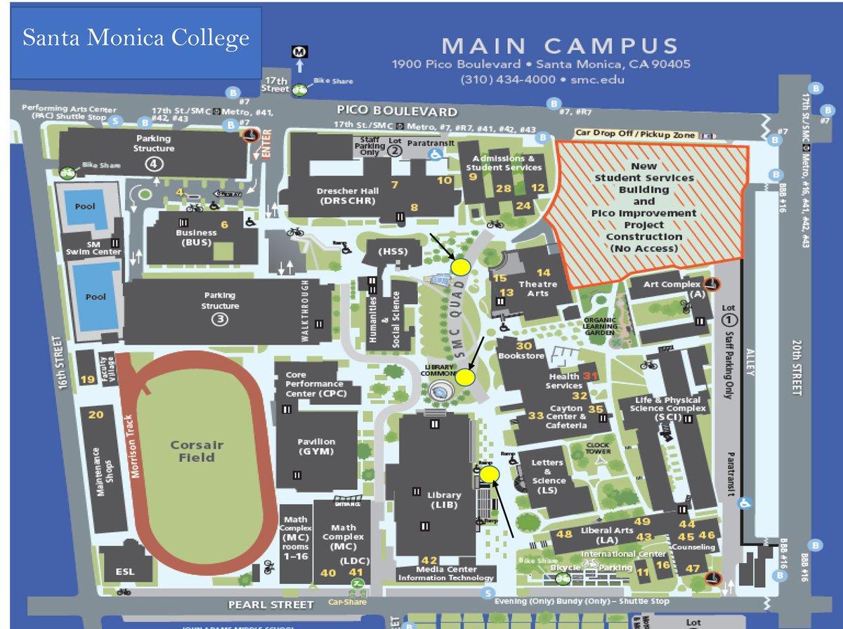 Santa Monica College Campus Map Santa Monica College on Twitter: