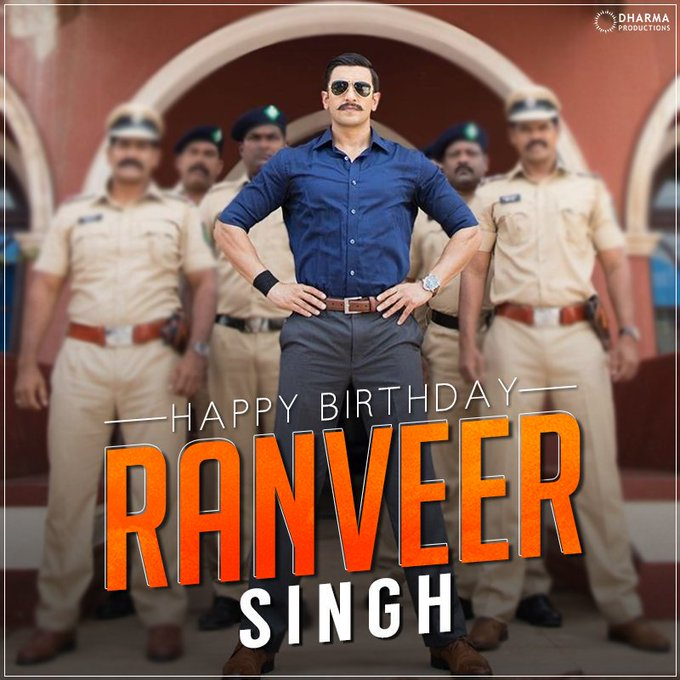 Happy Birthday Ranveer Singh. Stay blessed, Stay Happy, Stay Healthy