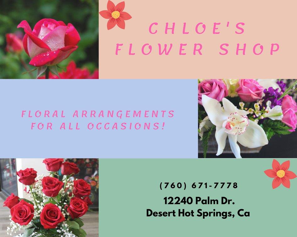 Chloesflowershop flowersbychloe twitter chloes flower shop has beautiful flowers and arrangements to choose from 760 671 7778 12240 palm dr desert hot springs ca chloesflowershop flowers mightylinksfo