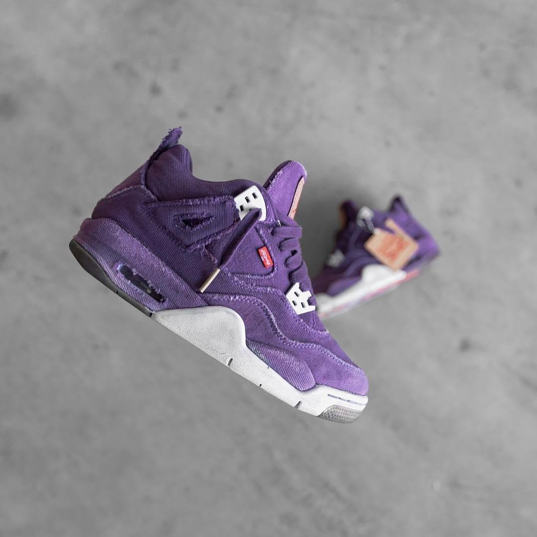 ffa5edd4e951 ... reduced thoughts on this purple levis x air jordan 4 custom c6764 63834