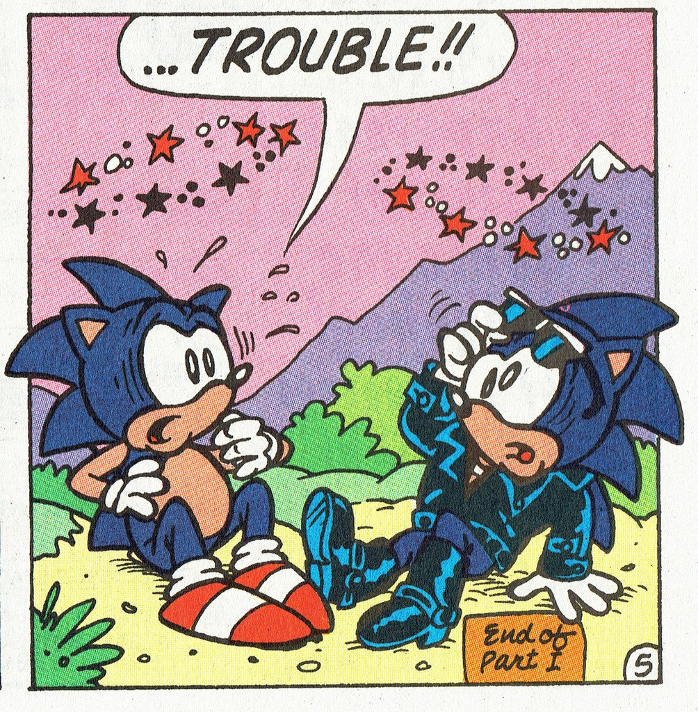 Sonic The Hedgeblog On Twitter Sonic Meets His Evil Doppelganger From Archie Comics Sonic The Hedgehog 11 Https T Co Djwbhm2lmk
