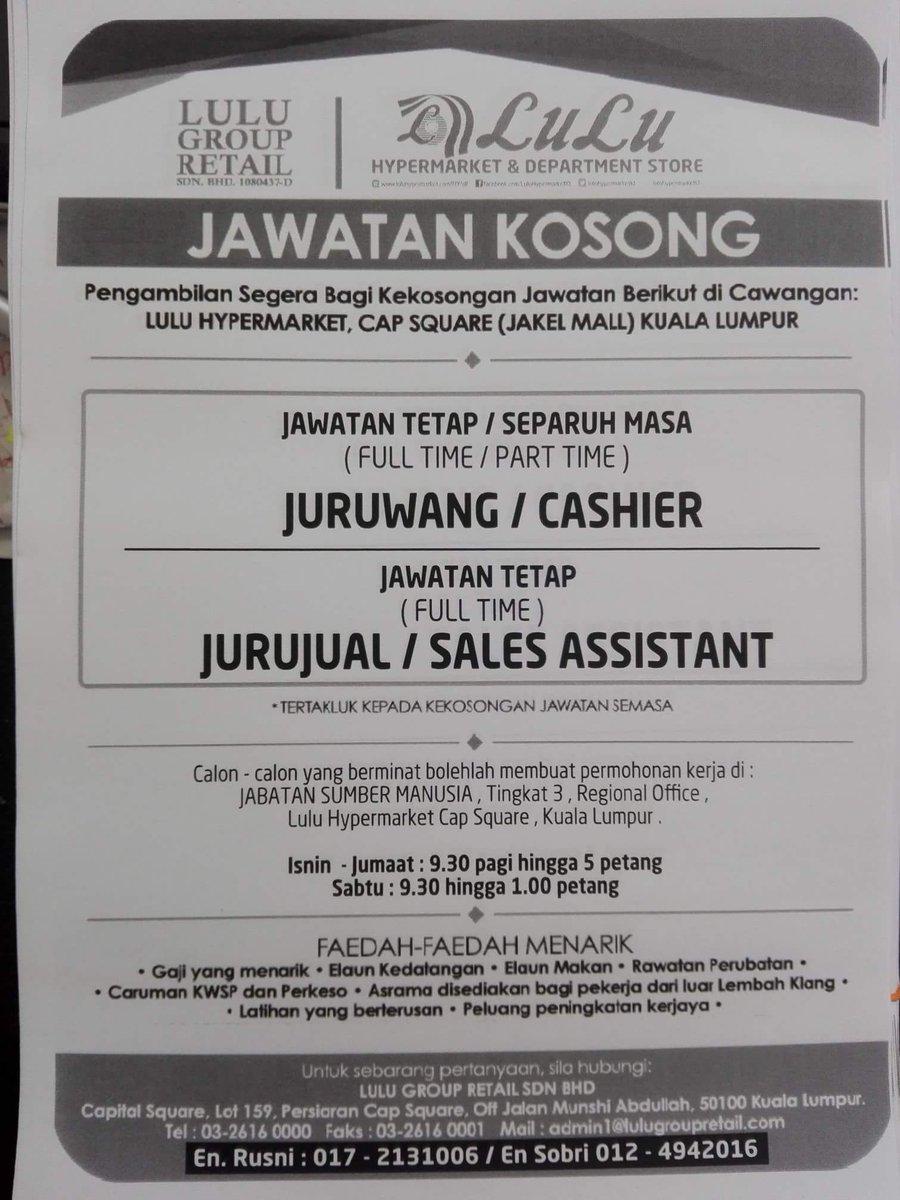 Kerja Kosong Area Klang Lama