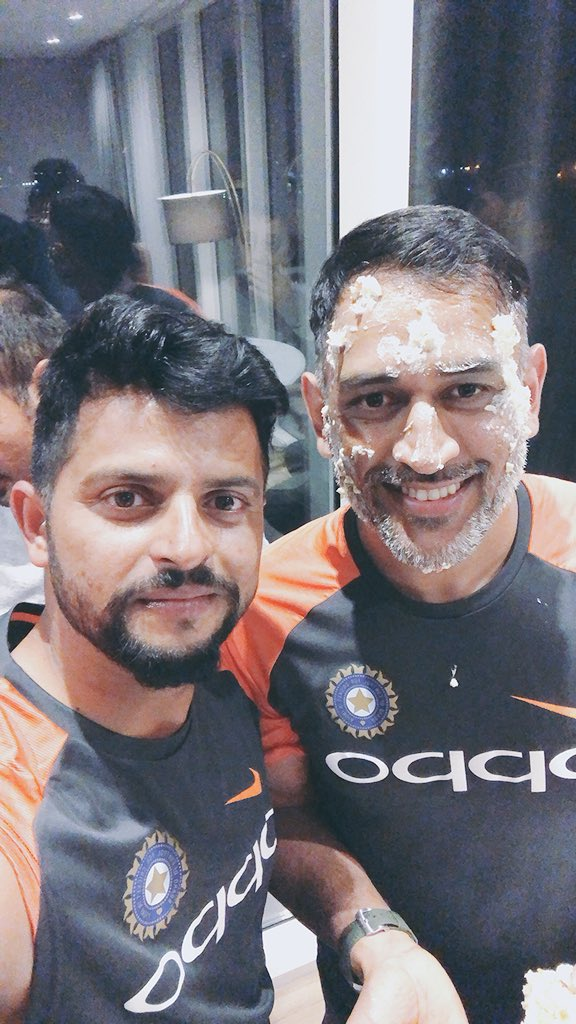 Happy birthday to the legend @msdhoni. There can be nobody like you. ✌️
