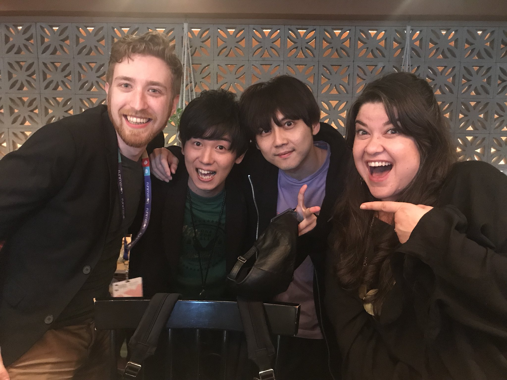 Colleen Clinkenbeard On Twitter This Is Justinbriner Daiki Yamashita Izuku Yuki Kaji Todoroki And Me Animeexpo Funimation Myheroacademia Https T Co Pzrhdmidbu