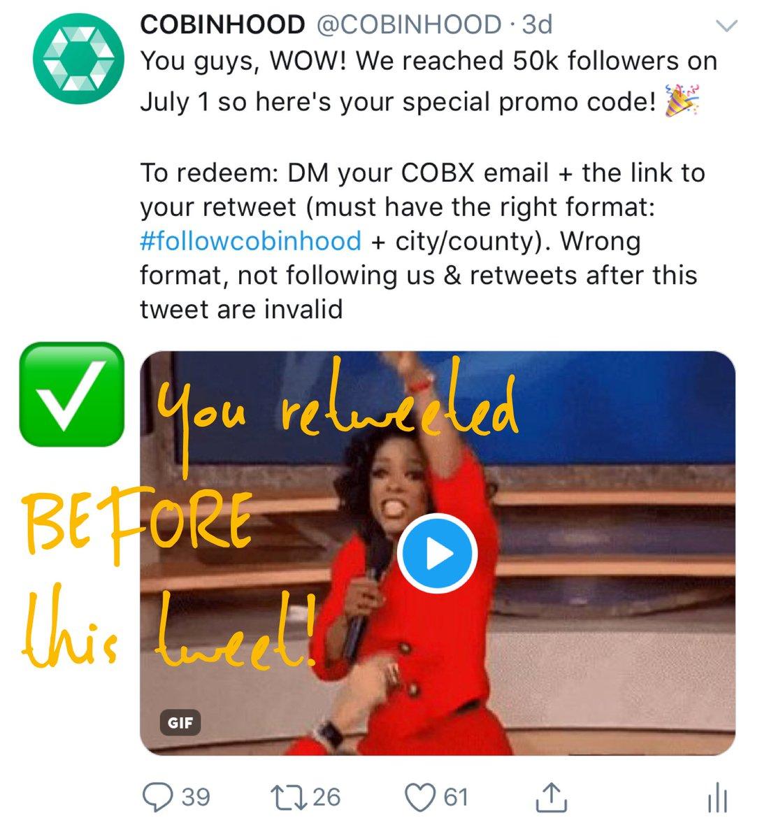 cobinhood on twitter go to prize portal https t co ibdyvsftlk