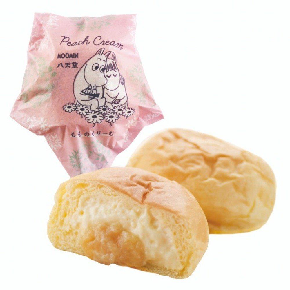 八天堂×ムーミン、冷やして食べる白桃クリームパン - ムーミン柄の保冷バッグも -