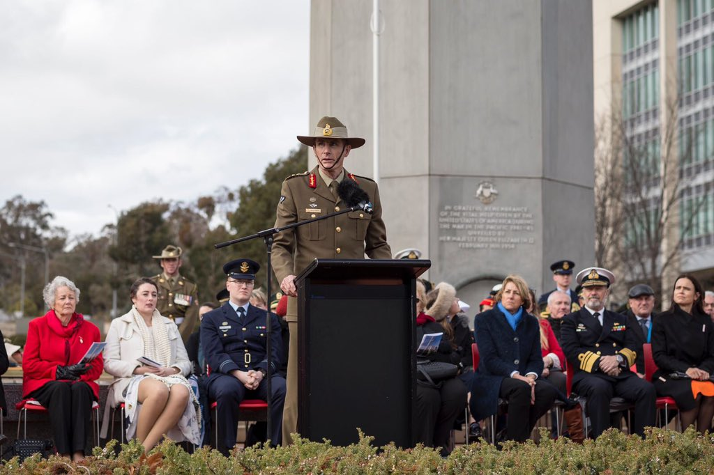 I congratulate and welcome General Angus Campbell to his command on his first full day as Chief of the Defence Force. I look forward to his leadership of #YourADF and to working together in his new role.