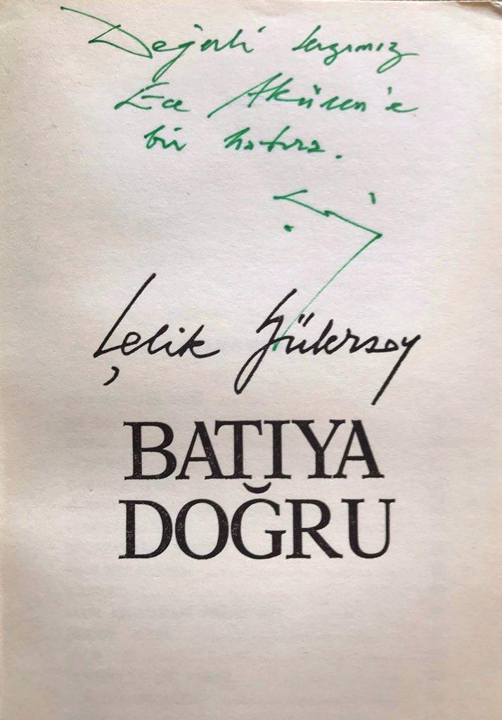 #ÇelikGülersoy bir dev insandı. Duruşu,bilgisi,İstanbul'a sevdayla katkıları....Entellektüel,(Ferit Epikmen'in 'İstanbul sevgilisini kaybetti' tanımıyla uğurladığı),beyefendiydi. Yeşilev, Emirgan köşkleri, Soğukçeşme sokağı....İstanbul'u dönüştüren adamdı. (23.9.1930-06.7.2003) pic.twitter.com/tM275LyR4t