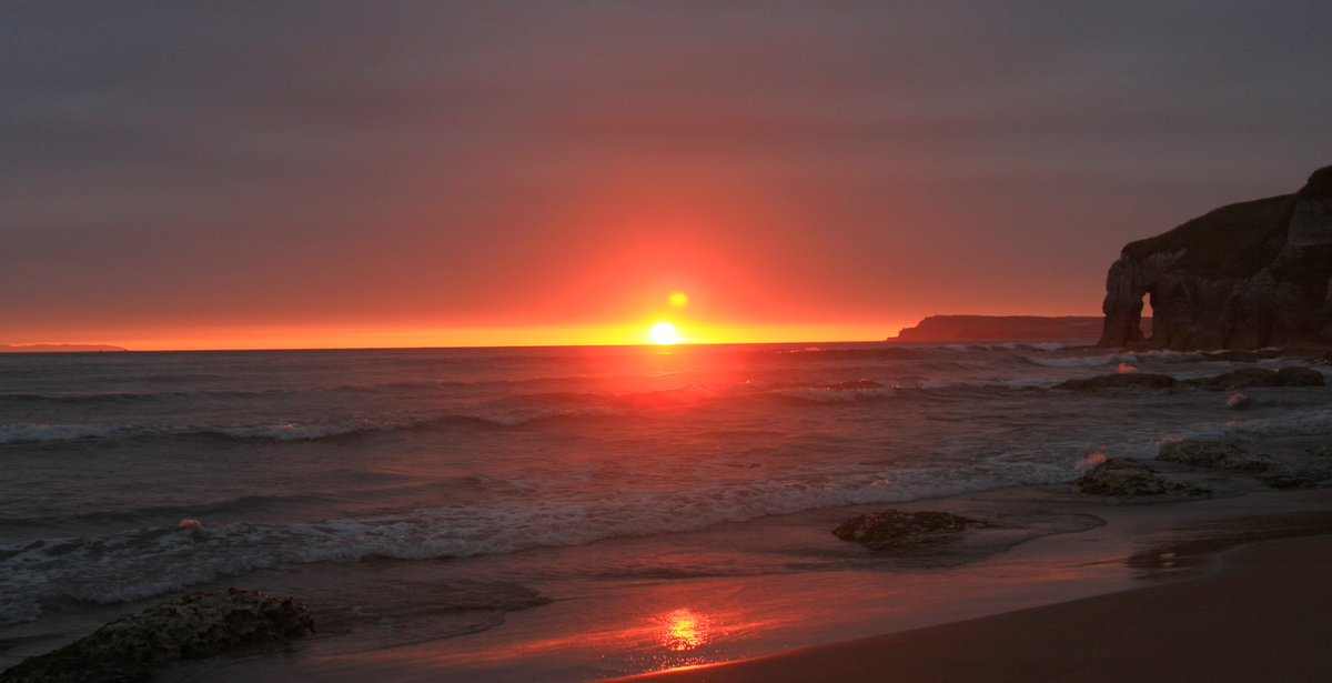 Sunrise at Whiterocks Portrush this morning.