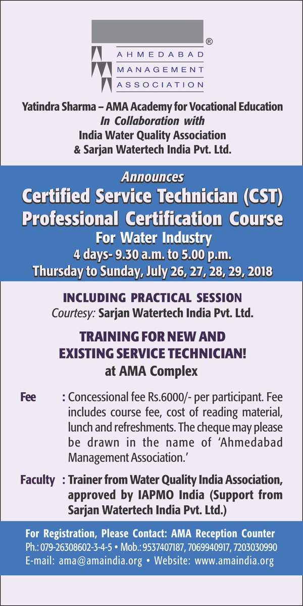 Ama On Twitter Certified Service Technician Cst Professional