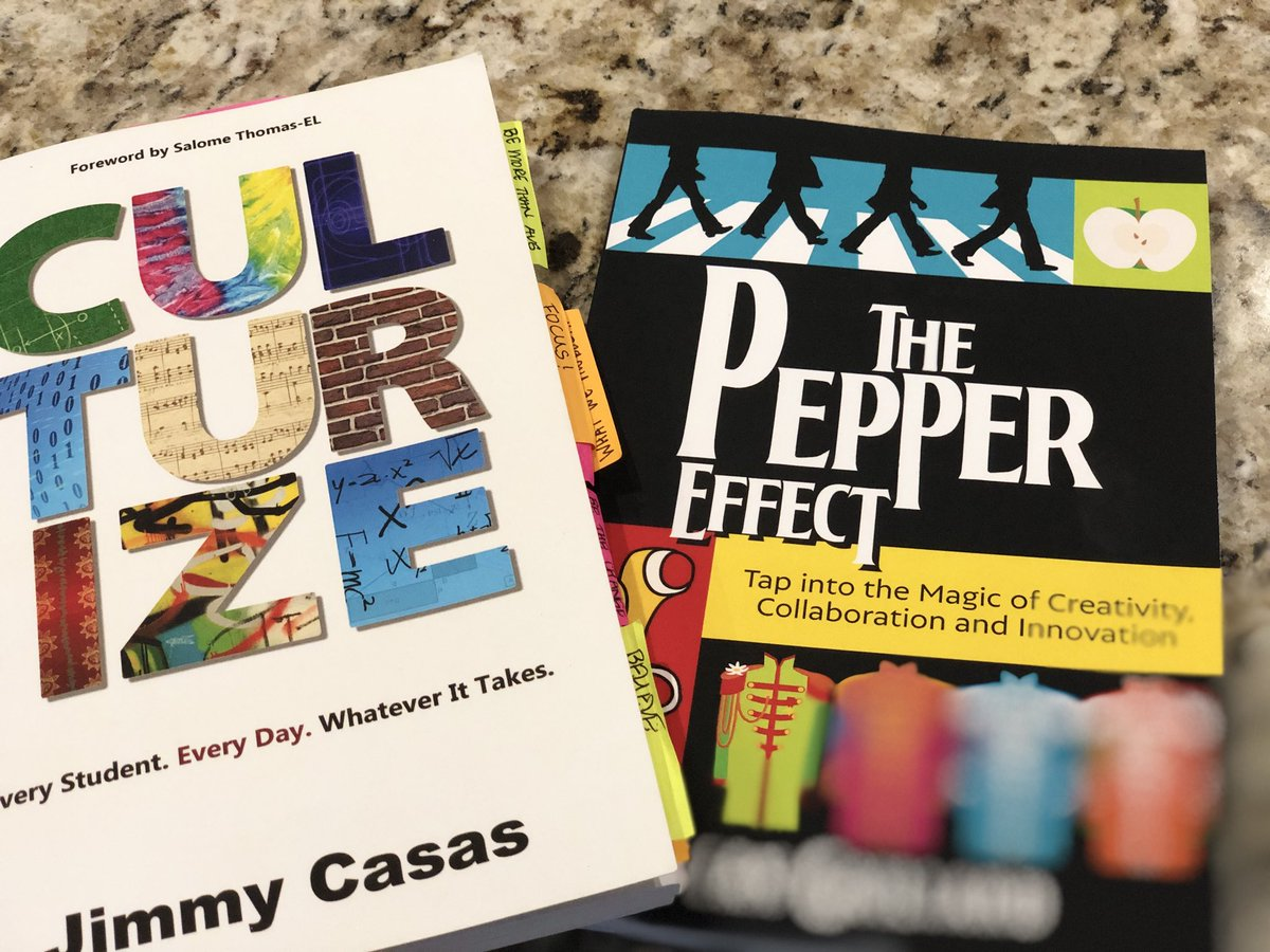 Loved #Culturize , looking forward to #ThePepperEffect! Summer of reading! Learn & Grow!