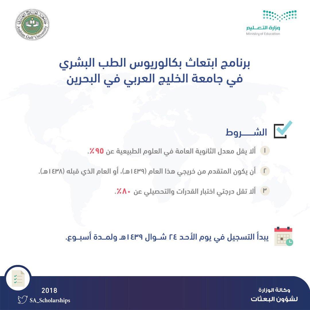 التسجيل بكالوريوس البحرين ٢٤ ١٤٣٩هـ،