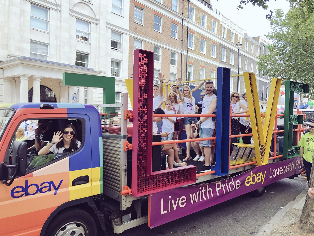 Ebay Co Uk On Twitter 75 Of Our Wonderful Staff And Can We Just Take A Moment To Check Out Our Amazing Float We Couldn T Be Prouder Pridelondon Ebaypride Https T Co Spwaob9j3x