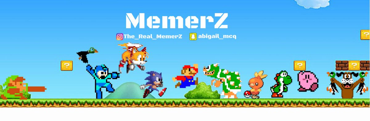Memerz On Twitter New Twitter Youtube Banner Thoughts Youtube Gaming Gamer Banner Nintendo Mario Sonic Yoshi Torchic Kirby Duckhunt Tails Zelda Https T Co Ngkvqie81y