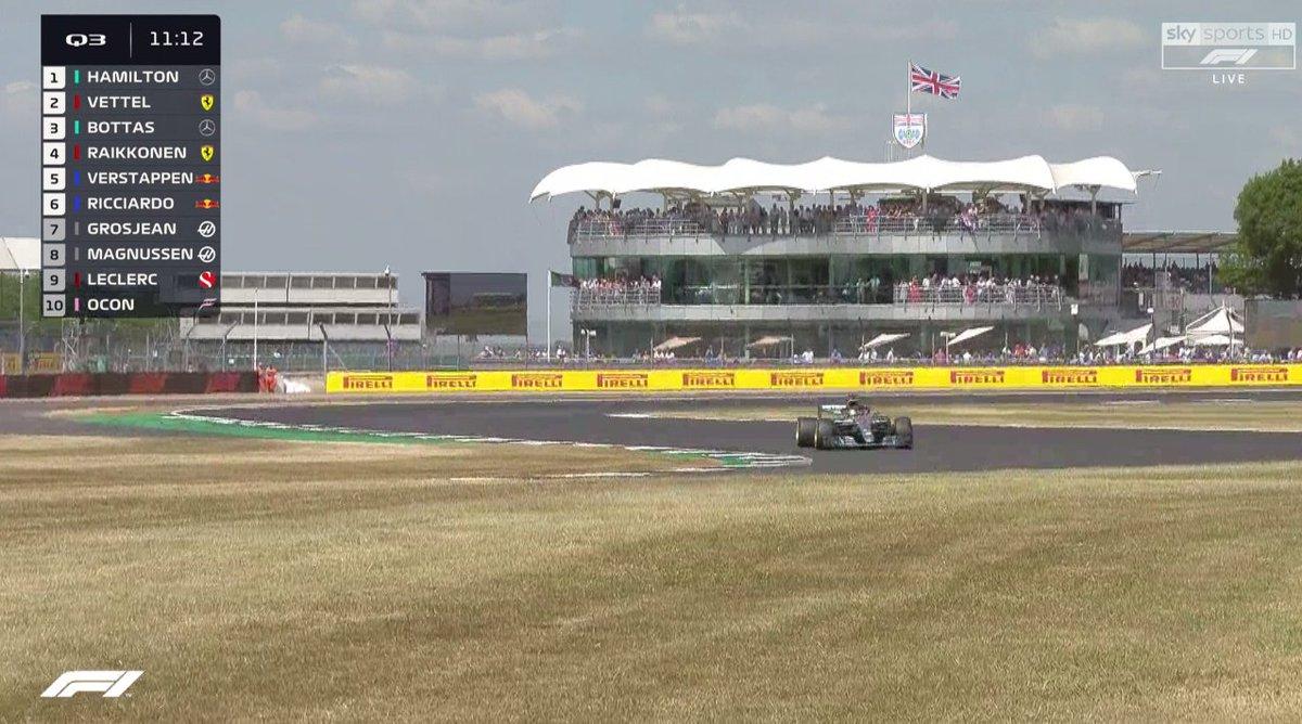 Хэмилтон стал первым вквалификации Гран-при Англии «Формулы-1»