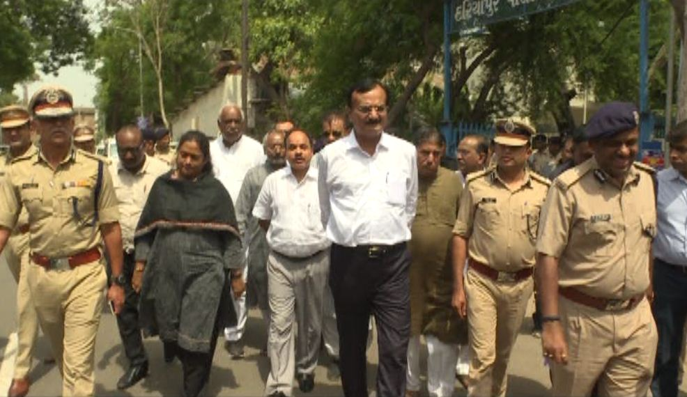 A week before Rath Yatra, MoS Home Jadeja reviews security preparations, walks on sensitive section of yatra route