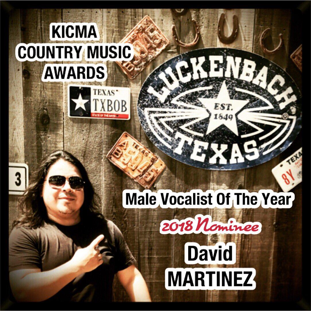 #TX #Music #News   #16 #US #18 #Global  DOUBLE AWARD NOMINEE  #MaleVocalistOfTheYear #SongOfTheYear 2018 #KICMA #AWARDS  David Martinez  #Follow: @davidmartinezmu   #Wine Hop 7/7 & 7/8 #TXHillCountry   #INFO:  http:// reverbnation.com/davidmartinezm usic  … <br>http://pic.twitter.com/ggEdIeHK7W
