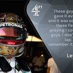 """Emotions were running high for Hamilton after securing pole position for the record-breaking sixth time at this race 😅Mark: """"Typical world class from Hamilton."""" 💪#C4F1 🇬🇧 #BritishGP"""