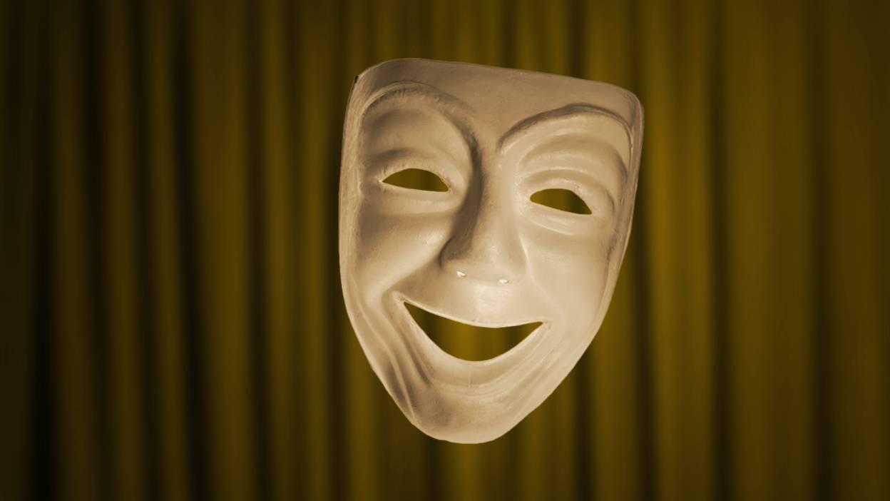 картинки маски комедия цвет