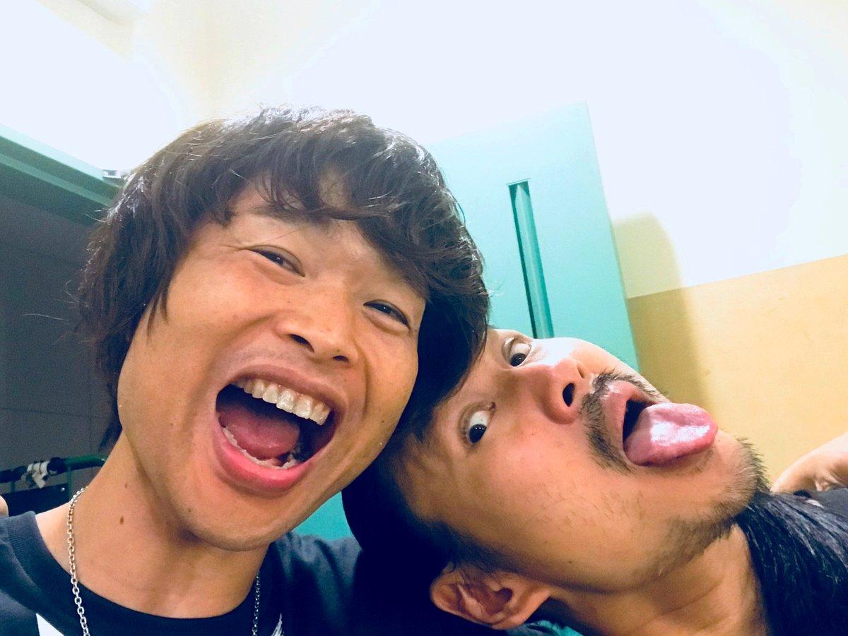"""BOBO & KIN  2018.7.6  皆が欲しがるその人柄とグルーヴ!!""""Surfer King""""のツインドラム、どっかに飛んでっちゃいそうなくらいに最高だったね✨✨大好きだよ〜😆"""
