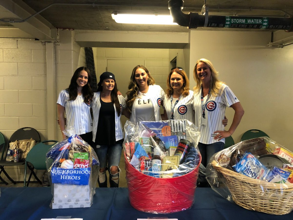 "Chicago Cubs on Twitter: ""Cubs Wives are auctioning off Cubs Favorite Things Baskets at the @GallagherWayChi Gate until the 7th inning."