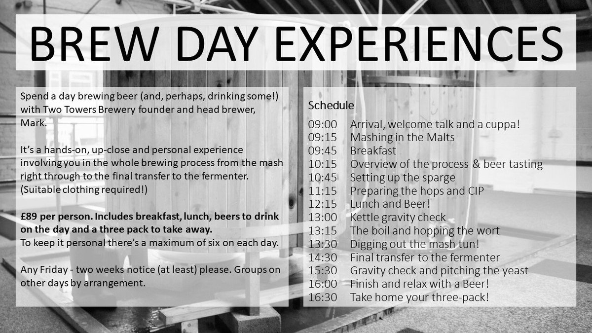 Fancy a #brewing experience day? Check this @TwoTowersAle offer out :-) @BrumHour @TheCultureHour @TryWestMidlands @Tryanuary #tryanuary #brumhour<br>http://pic.twitter.com/HzawW3NTaE
