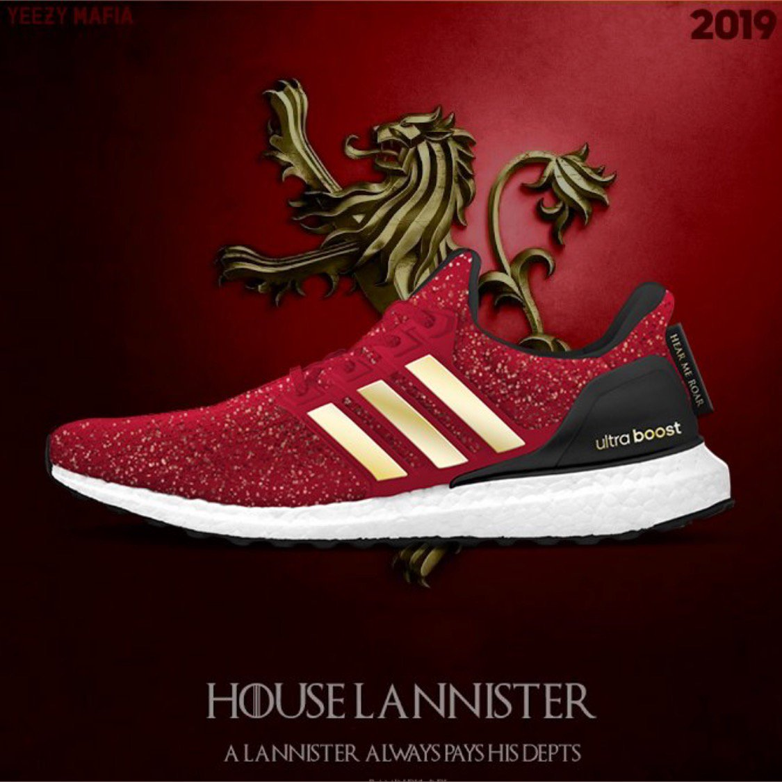 9fffeb201 These Game of Thrones-themed shoes from Adidas are EPIC! 👀 🔥 (via   theyeezymafia)pic.twitter.com xj0SkBSfNA. 4 43 PM - 7 Jul 2018