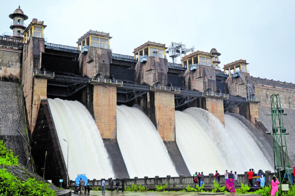 Image result for Kabini dam received an inflow of 40,363 cusec, surge in Cauvery